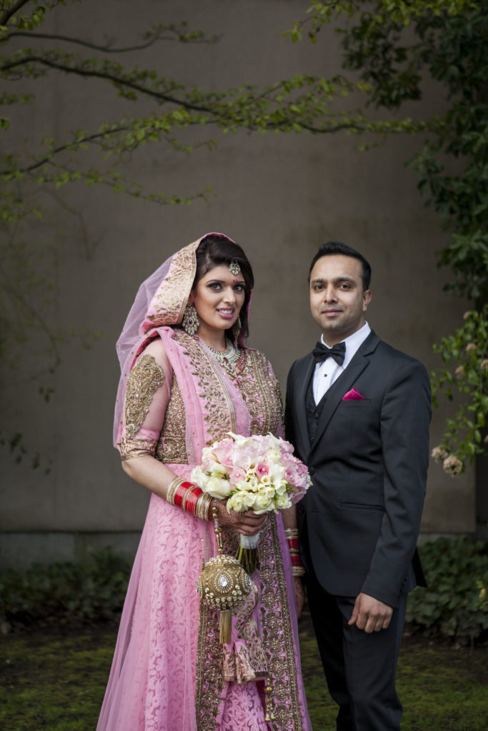 Photograph of the wedding couple taken by Vancouver wedding photographer - this is it studios