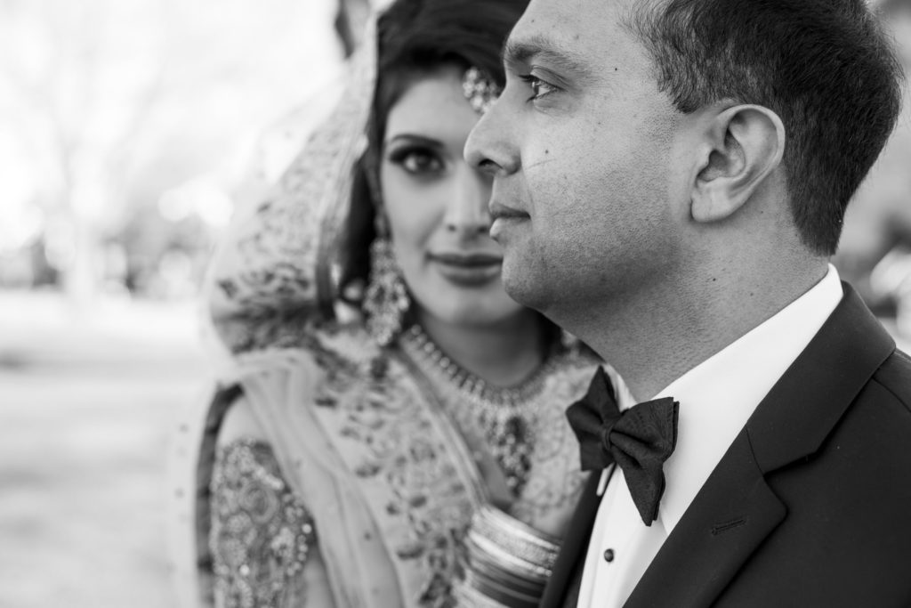 Portrait of Vancouver wedding couple after their ceremony with officiant Ann Moore