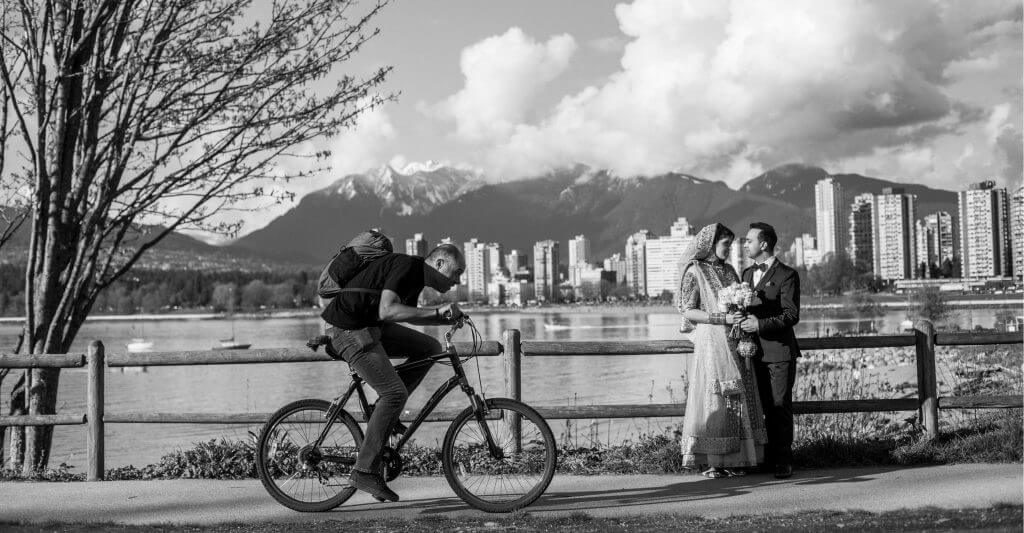 Vancouver wedding photographer Kitsilano beach portrait session